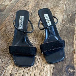 Brighton Tactic Pony Hair Leather Sandals size 8.5